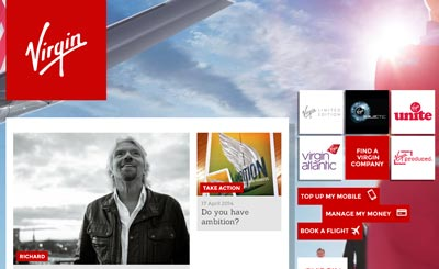 Virgin.com website